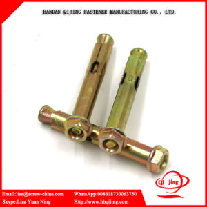 Yellow Zinc M20 Bolt Anchor and Sleeve Anchor with Hex Flange Nut pictures & photos