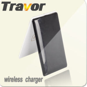 Qi Receiver Wireless Charger with Genunie Leather for Samsung/HTC/iPhone/Nokia