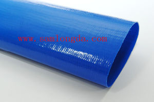 High Pressure Blue Layflat Hose / PVC Water Discharge Hose pictures & photos