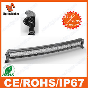 Made in China Dual Row LED Light Bar, 180W Curved LED 4X4 Bar, Light Bent LED 180W Light Bar for Offroad Vehicles Jeep