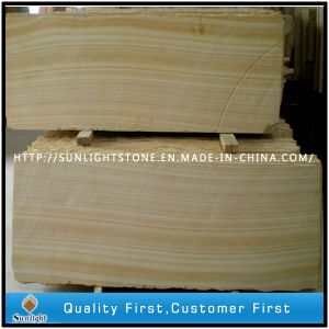 Sichuan Wood Vein Yellow Sandstone for Flooring and Wall Tiles pictures & photos