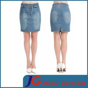 Women Blue Knee Length Pencil Skirts (JC2103) pictures & photos