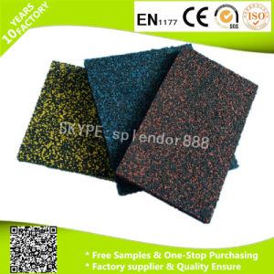 Black with Red White Green Grey Blue Dots Recycled Rubber Gym Flooring Mats pictures & photos