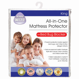 Premium 100% Polyester Waterproof Mattress Protector