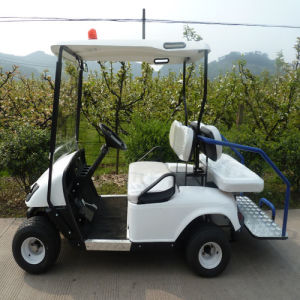 White 4 Seat Electric Power Cart (JD-GE501B) pictures & photos