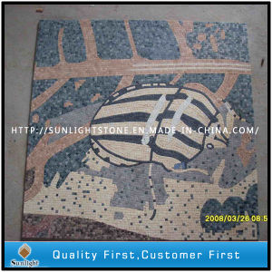 Animal Design Marble Stone Small Mosaic Pattern Art Wall Tiles pictures & photos