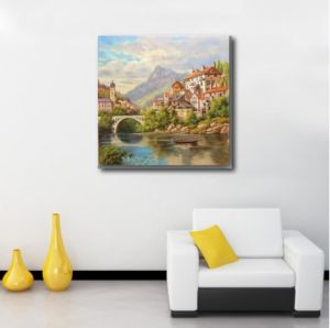 Waterside of Home Decoration Oil Painting pictures & photos