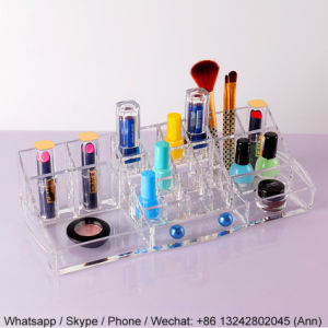 Custom Clear Acrylic Makeup/Cosmetic Box pictures & photos