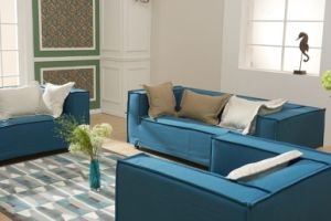 Simple Modern Fabric Sofa Set for Living Room (TG-CH956) pictures & photos