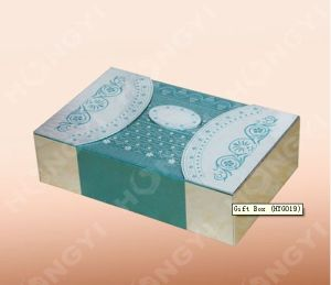 Green/Gloden Kart Paper Decorative Gift Box for Perfume Packaging (HYG019) pictures & photos