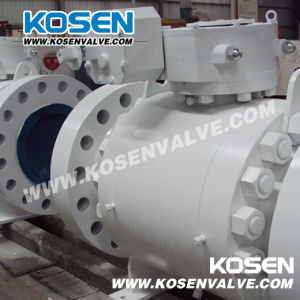 Worm-Gear Actuator Forged Steel Trunnion Ball Valves