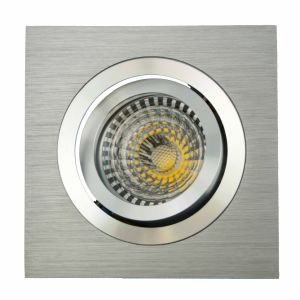 Lathe Aluminum GU10 MR16 Sauqre Tilt Recessed LED Downlight (LT2301) pictures & photos