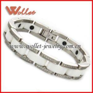 Popular Ceramic Stainless Steel Bracelets (CMB-0252)