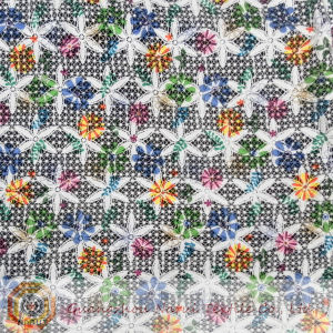 French Chemical Printing Micro Fiber Lace Fabric (M0520) pictures & photos