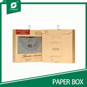 Kraft Undershirt Packaging Box with Hook and Window pictures & photos