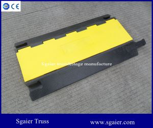 Dual Channel Cable Protector Straight Ramp pictures & photos