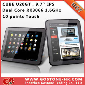 Cube U20gt Android 4.0 Tablet PC Dual Core Rk3066 9.7′′ IPS 1024*768 10 Points Touch Dual 2.0MP Camera HDMI WiFi RAM 1g ROM 16g