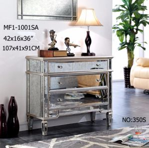Solid Wood High Class 3 Drawers Mirrored Furniture pictures & photos