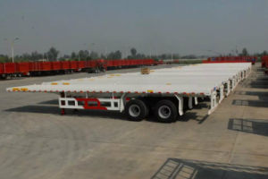 20FT, 40FT Flatbed Container Semi-Trailer pictures & photos