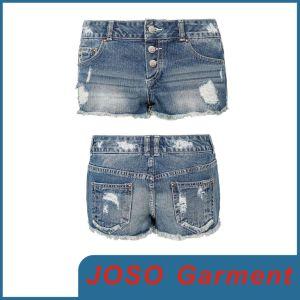 Women Distressed Denim Shorts (JC6032) pictures & photos