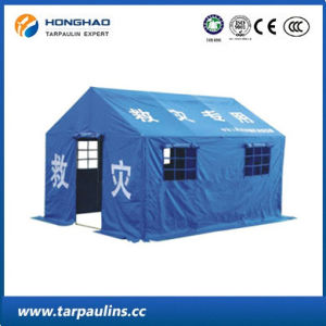 Blue Outdoor Durable PVC Laminated Relief Tent pictures & photos