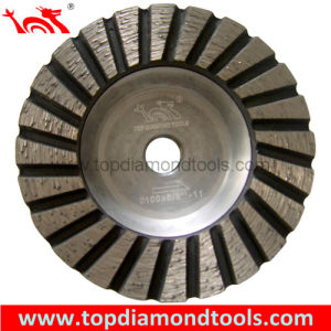 Diameter 100 Turbo Grinding Cup Wheel with Aluminum Base pictures & photos