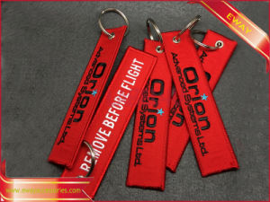 Remove Before Fight Keychain Embroidery Keychain pictures & photos