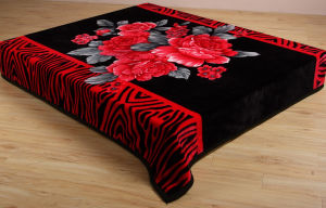 New Design Polyester Raschel Blanket