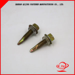 Hex Head Self Drilling Screw Yellow pictures & photos