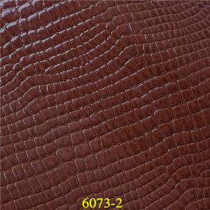Wholesale Bulk Imitated PU Handbag Leather with Crocodile Pattern pictures & photos