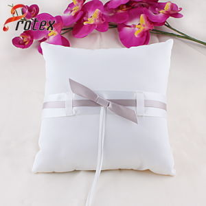 2015 White Wedding Bridal Ring Pillow with Bow Decoration pictures & photos