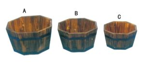 Outdoor Cedar Wood Garden Planters Plant Pots for Garden Decoration pictures & photos