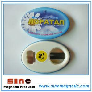 Metal Bottom Magent Bottle Opener with Fridge Magent pictures & photos