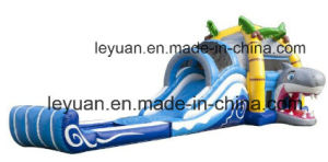 Strong PVC Tarpaulin Inflatable Water Slides Units for Kids