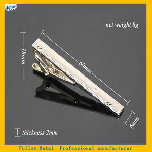 Fashion High Quality Alloy Party Simple Necktie Tie Clip Bar Pin Practical Blank Silver Metal Clip Bow Tie pictures & photos