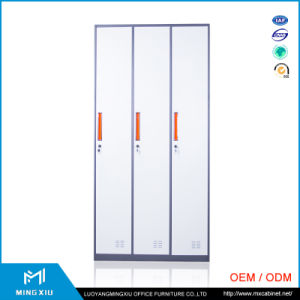 China Mingxiu 3 Door Cheap Metal Storage Locker / Steel Cabinet Clothes Locker pictures & photos