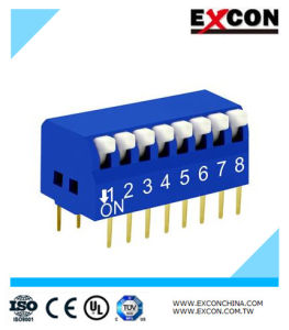 High Quality 8pin DIP Slide Switch/Micro Switch/Toggle Switch Excon Rpl-08-B pictures & photos