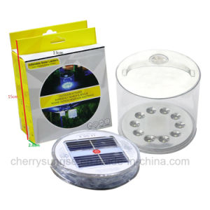 Garden Outdoor 10 LED Solar Powered Inflatable Waterproof Lantern Tent Light New pictures & photos
