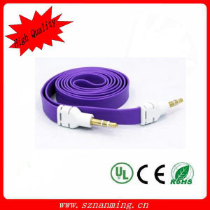 3.5mm Male to Male Flat Noodle Audio Cable pictures & photos