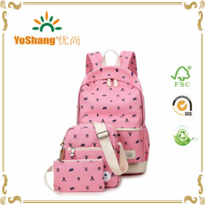 Casual Lightweight Canvas Laptop Bag Shoulder Bag School Backpack pictures & photos