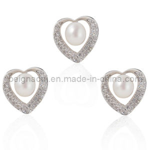 Fresh Water Pearl Jewelry Rhdium Plated Finishing