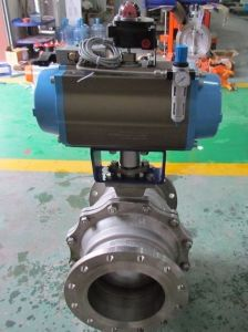 Pneumatic 2PC Ss304 Flanged Ball Valve Q641f-16p pictures & photos