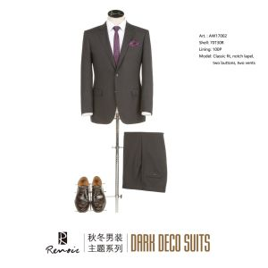 OEM 2 Piece Classic Fit Two Buttons Men′s Business Suit pictures & photos