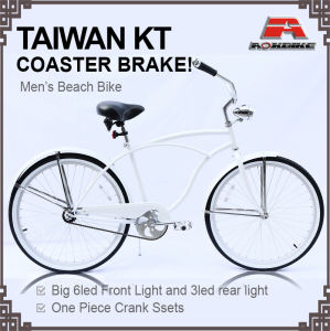 Hi-Ten Frame Alloy Rim 26 Inch Beach Cruiser Bike (ARS-2682S-1) pictures & photos