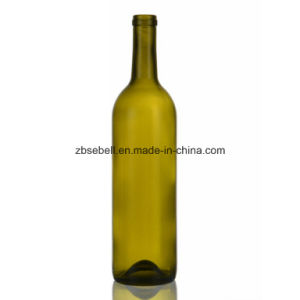 Wholesale 750ml Bodeaux Flint Glass Wine Bottle pictures & photos