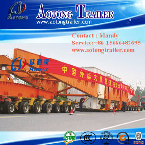 10 Axles Hydraulic Steering Modular Trailer (4+concave beam+6) pictures & photos