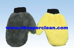 Microfiber, Coral Fleece Car Wash Mitt (CN1508) pictures & photos