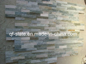 Cheap P014 Gold- Beige Stacked Slate for Wall Cladding Stone