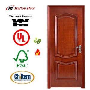 Wooden Fire Proof Doors with Britain BS Standard Certified/Wood Fireproofing Door pictures & photos