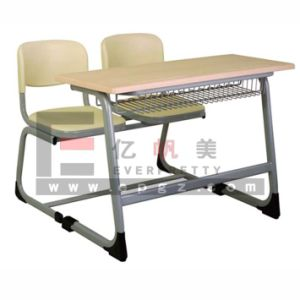 Cheap College School Student Furniture Student Desk with Bench, Student Bench pictures & photos